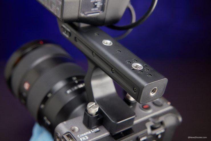 Sony FX3 handle taps