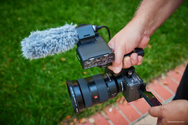 Sony FX3 in hand
