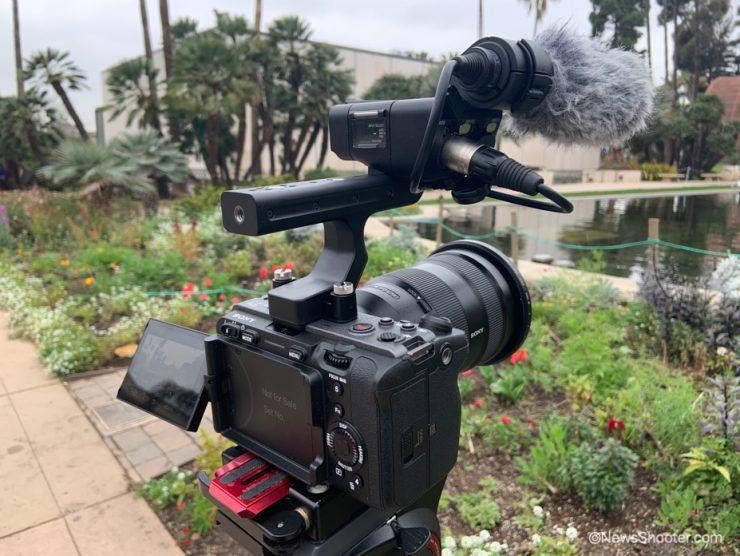 Sony FX3 on tripod