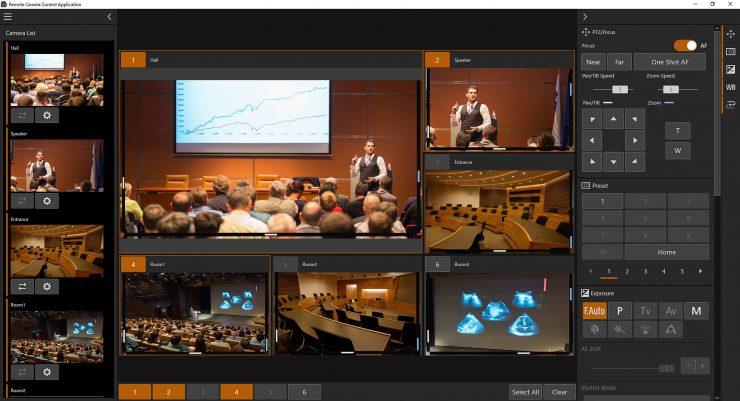 Remote Camera Control Application Screen Image 01