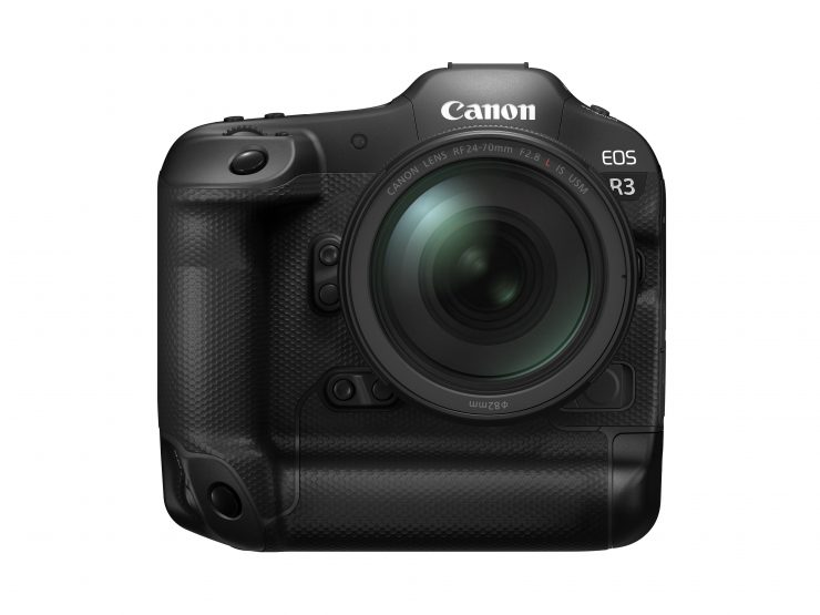 Canon EOS R3 Front with RF 24 70 f28 L IS USM