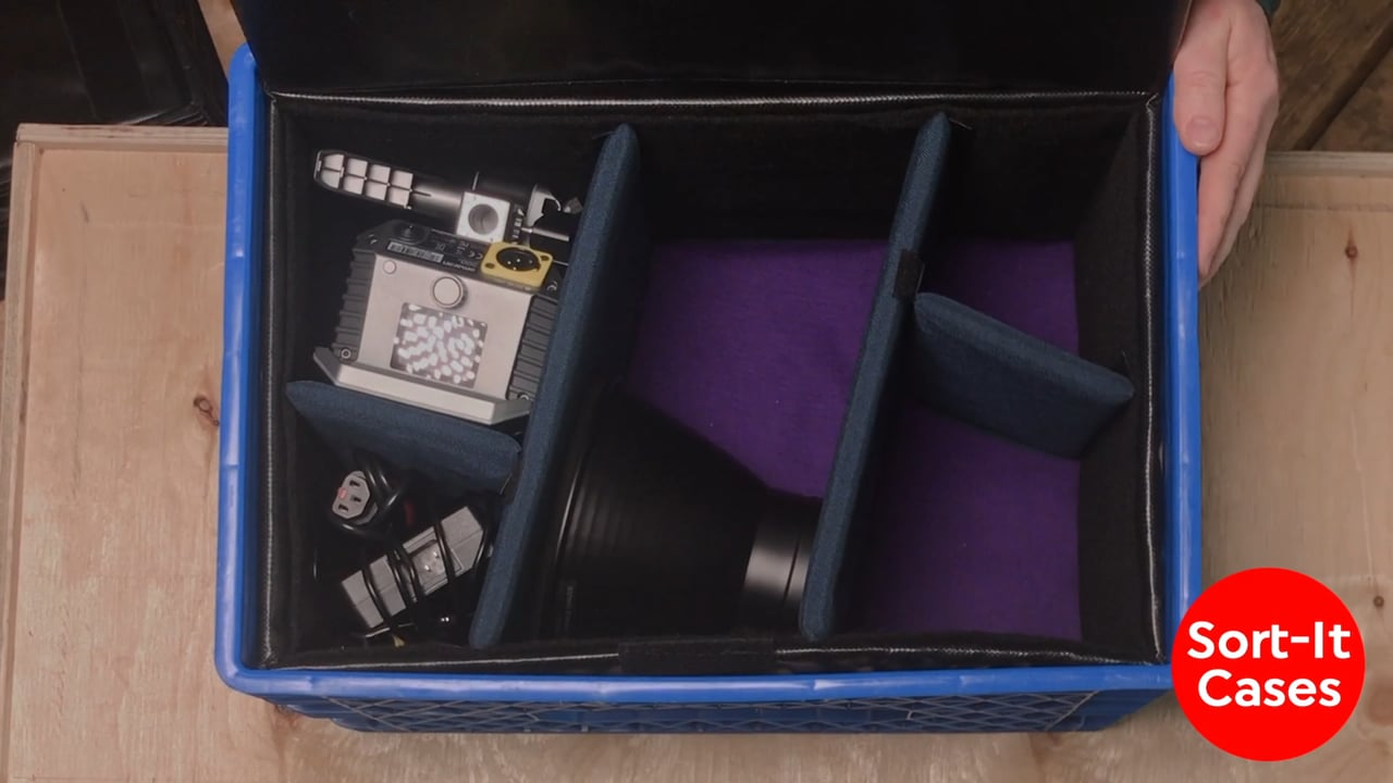 Sort-It Cases Turns Milk Crate Into a Light Kit - Newsshooter