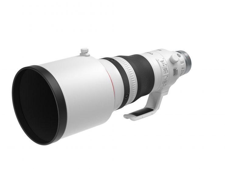 RF 400mm f2 8 L IS USM Front Slant with hood 1