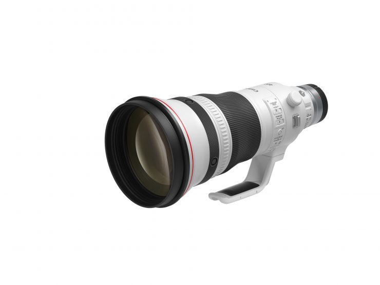RF 400mm f2 8 L IS USM Front Slant with cap