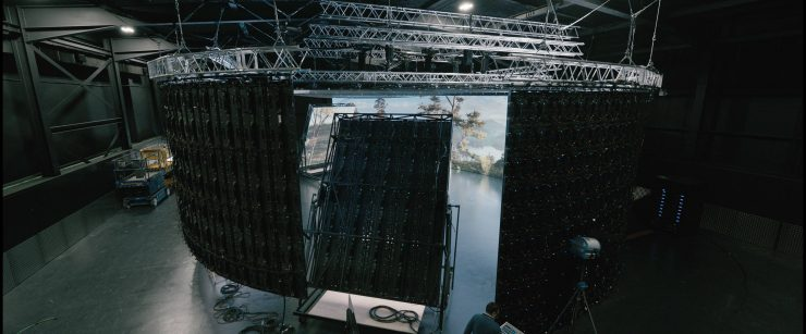 3 062021 arri UK LED volume view from outsdie photo ARRI lanscape plate David Noton