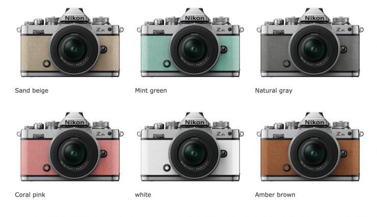 Nikon Z fc premium exterior leather colors