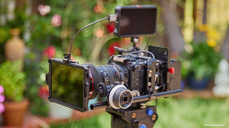 SmallReig Mini Matte Box wide on camera 1