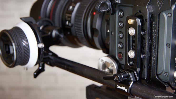 SmallRig Mini Follow Focus 15mm mount on Z Cam 2