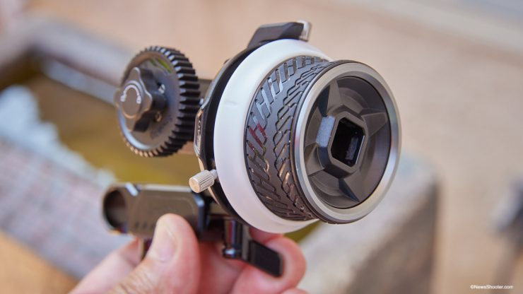 SmallRig Mini Follow Focus wheel view