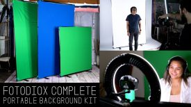 Complete Portable Background Kit GreenBlue BlackWhite Diffusion Backgrounds in Multiple Sizes