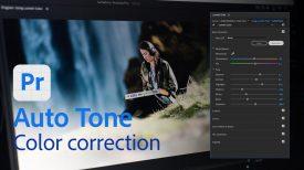 Color correction with Auto Tone in Premiere Pro Beta